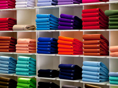Photo of Colorful Polo shirts, clothes shop Stock Photo - 13916754