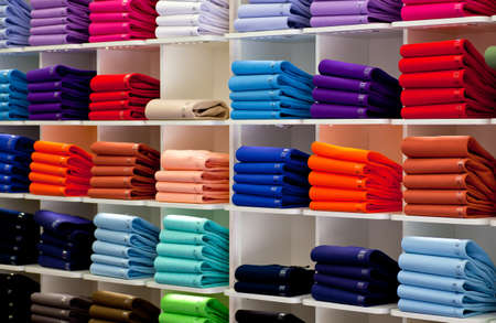 Photo of Colorful Polo shirts, clothes shop photo