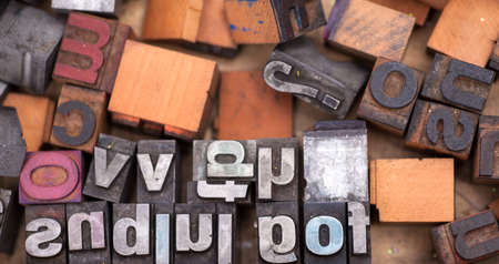 A lot of alphabet stamp, Block letters  photo