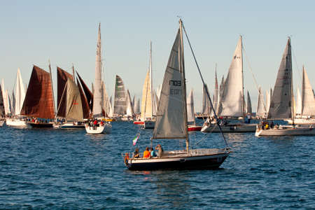 Trieste Barcolana,  2009 - The Trieste regatta  - Italy - http://www.barcolana.it/ Stock Photo - 13916814