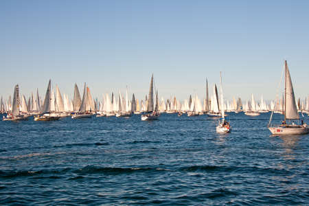 Trieste Barcolana,  2009 - The Trieste regatta  - Italy - http://www.barcolana.it/ Stock Photo - 13916824