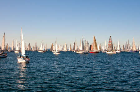 Trieste Barcolana,  2009 - The Trieste regatta  - Italy - http://www.barcolana.it/ Stock Photo - 13916821