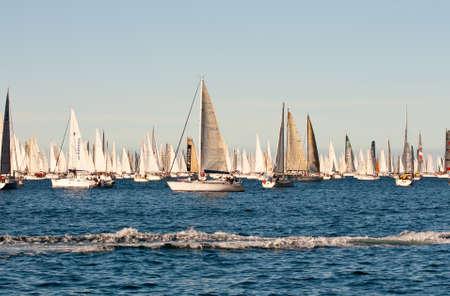 Trieste Barcolana,  2009 - The Trieste regatta  - Italy - http://www.barcolana.it/ Stock Photo - 13916785