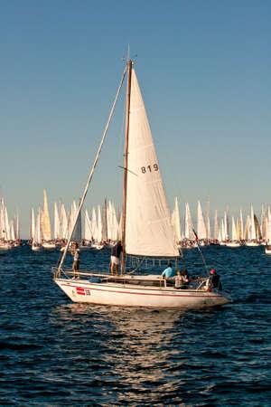 Trieste Barcolana,  2009 - The Trieste regatta  - Italy - http://www.barcolana.it/ Stock Photo - 13916826