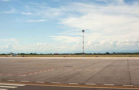 Vue de Trieste aéroport dans la matinée