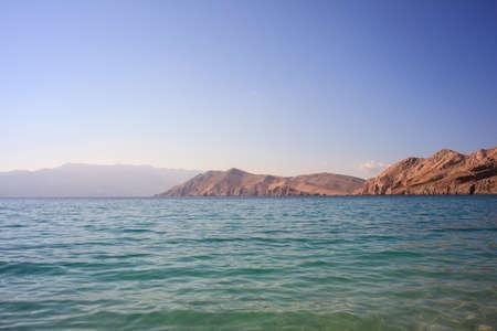 wetting: View of Baska, Krk island in Dalmatia - Croatia