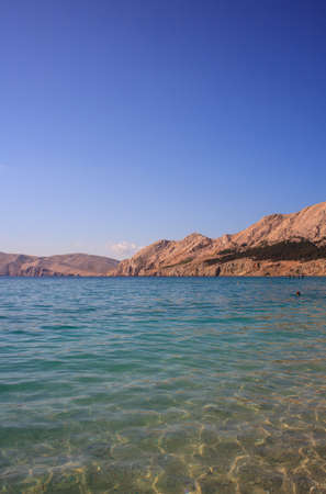 View of Baska, Krk island in Dalmatia - Croatia Stock Photo - 14580399