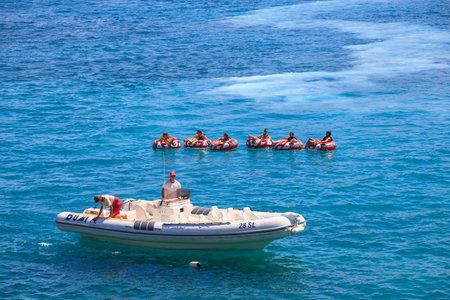 Water play, Baska sea, Krk island in Dalmatia - Croatia Stock Photo - 14581294
