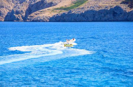 Water play, Baska sea, Krk island in Dalmatia - Croatia Stock Photo - 14580089
