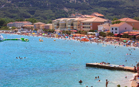 View of Baska, Krk island in Dalmatia - Croatia Stock Photo - 14581305