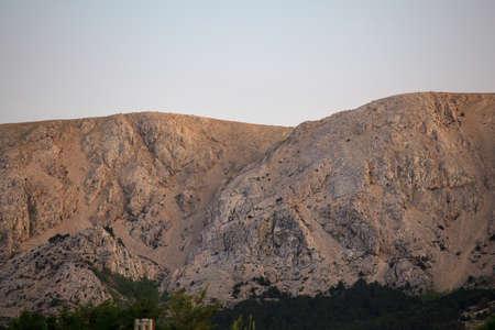 krk: View of Baska mountain, Krk island in Dalmatia - Croatia