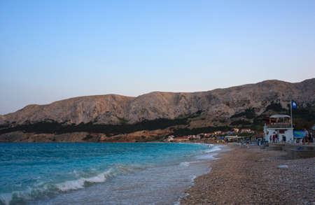View of Baska, Krk island in Dalmatia - Croatia photo