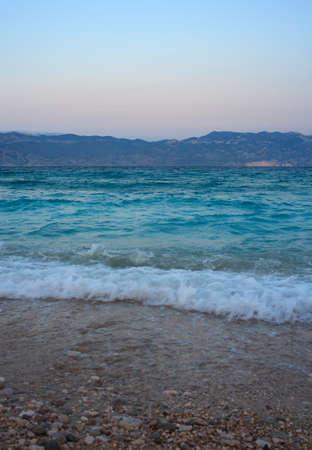 View of Baska, Krk island in Dalmatia - Croatia Stock Photo - 14580603