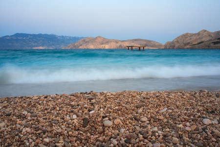 krk: View of Baska, Krk island in Dalmatia - Croatia