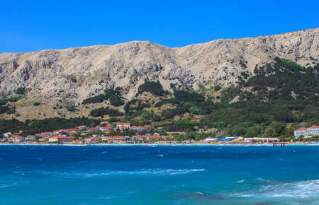 View of Baska beach, Krk island in Dalmatia - Croatia Stock Photo - 14580311
