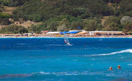 View of Baska, Krk island in Dalmatia - Croatia Stock Photo - 14581310