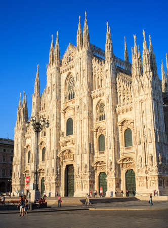 View of the Duomo di milano - Milan cathedral in Italy