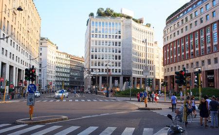 View of St. Babila square, Milan - Italy