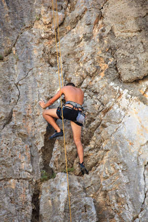 Young Climber on Sistiana rock - Trieste Stock Photo - 14873216