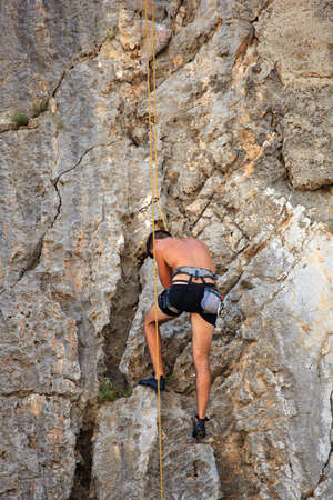 Young Climber on Sistiana rock - Trieste Stock Photo - 14873209