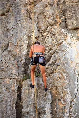 Young Climber on Sistiana rock - Trieste Stock Photo - 14873204
