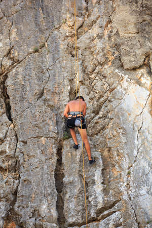 Young Climber on Sistiana rock - Trieste Stock Photo - 14873251