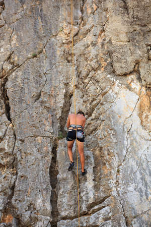Young Climber on Sistiana rock - Trieste Stock Photo - 14873222