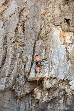 Young Climber on Sistiana rock - Trieste Stock Photo - 14873368