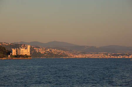 View of Miramare castle at sunset, Trieste photo