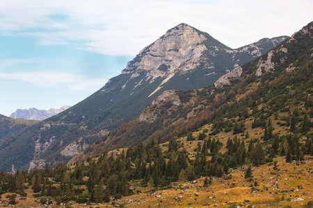 View of Tolminska Migovec mountain, Slovenia photo