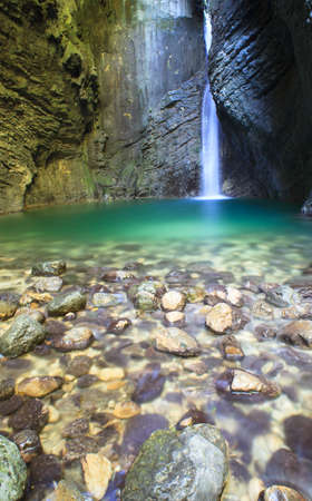 Kozjak waterfall (Slap Kozjak) - Kobarid,  Julian Alps in Slovenia photo