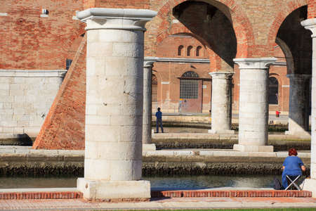 View of Arsenale columns in Venice, Italy Stock Photo - 15117228