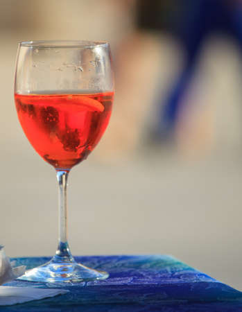 hastens: Photo of Glass with Spritz, Italian drink