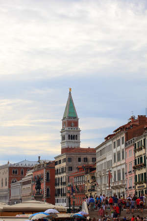 doges  palace: View of St. Marco tower and doges palace in Venice, Italy