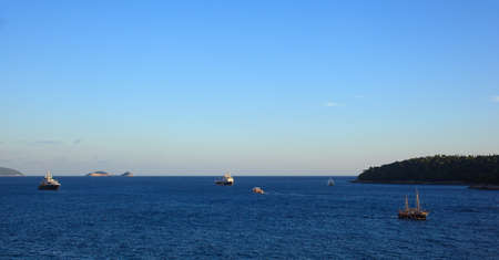 seaview: Boats in the adriatic sea, Dubrovnik - Croatia