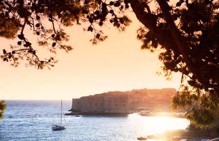 seaview: View of Dubrovnik, famous city in Croatia