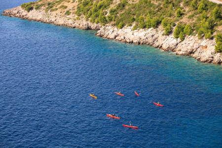 Kayaking in the Croatian sea  Brsecine Stock Photo - 16779387