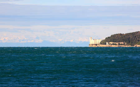View of famous Miramare castle in Trieste - Italy