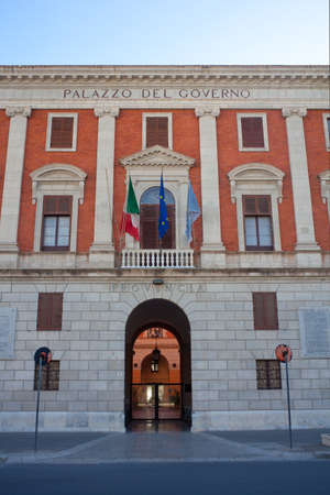 trapani: View of the Palazzo del Governo in Trapani