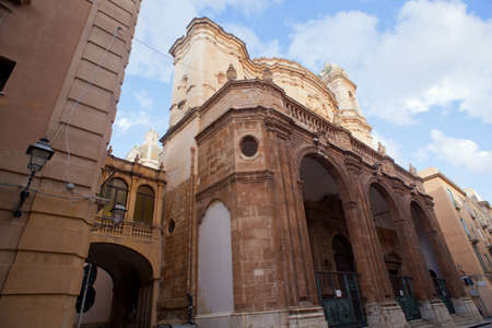 trapani: View of the Cattedrale di San Lorenzo in Trapani Stock Photo