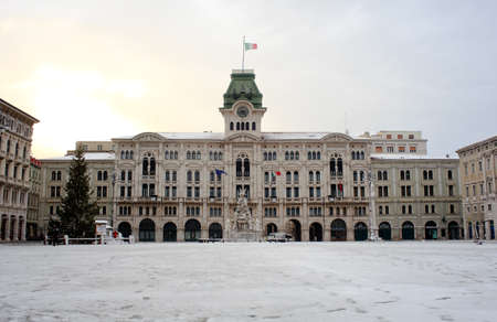 Trieste covered by snow