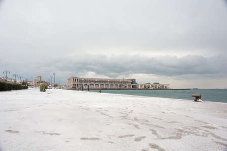 trieste: View of Trieste covered by snow Stock Photo