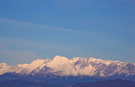 julian: View of Julian Alps covered by snow Stock Photo