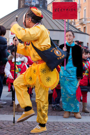 MILAN, ITALY - FEBRUARY 10: Chinese New Year parade in Milan on February 10, 2013