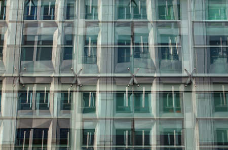 costruction: View of Glass building in Milan