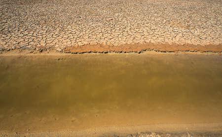 evaporacion: Vista de los estanques de evaporaci�n de sal en Secovlje, Eslovenia