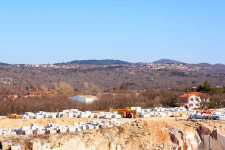 chelyabinsk: View of Romain marble quarry in Trieste