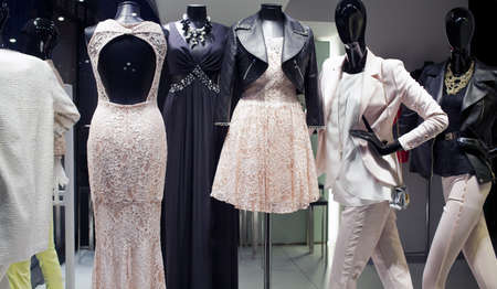 emporium: View of clothes in a boutique in Milan