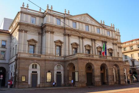 scala: View of Teatro alla Scala in Milan, Italy