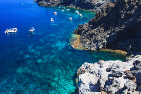 View of Pantelleria coast famous island in Sicily photo